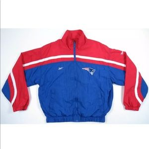 New England Patriots Reebok Pro Line Zip Jacket